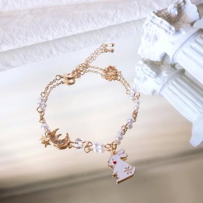 小白兔星星月亮手链