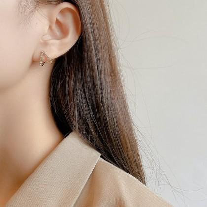 S925三角钻百搭耳钉耳环