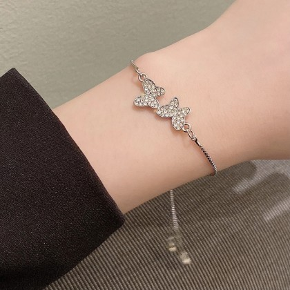 银色蝴蝶束绑手链