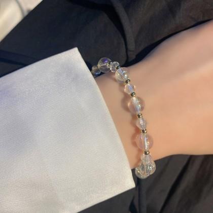 镂空珍珠猫咪水晶手链