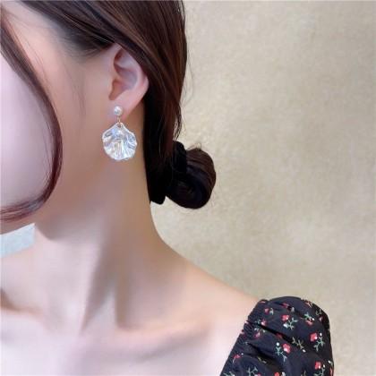 S925贝壳珍珠耳钉耳环