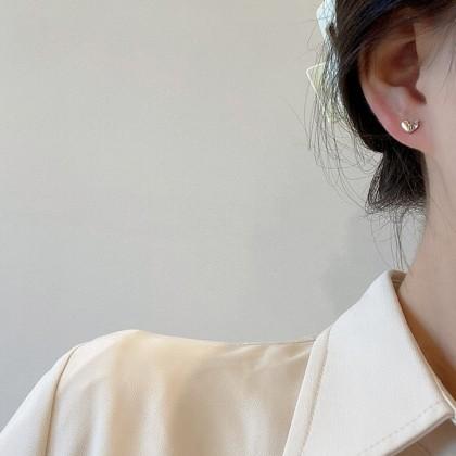 S925小爱心耳钉耳环